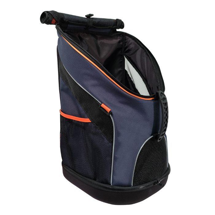 Ibiyaya Ultralight Backpack Pet Carrier Navy Side Open