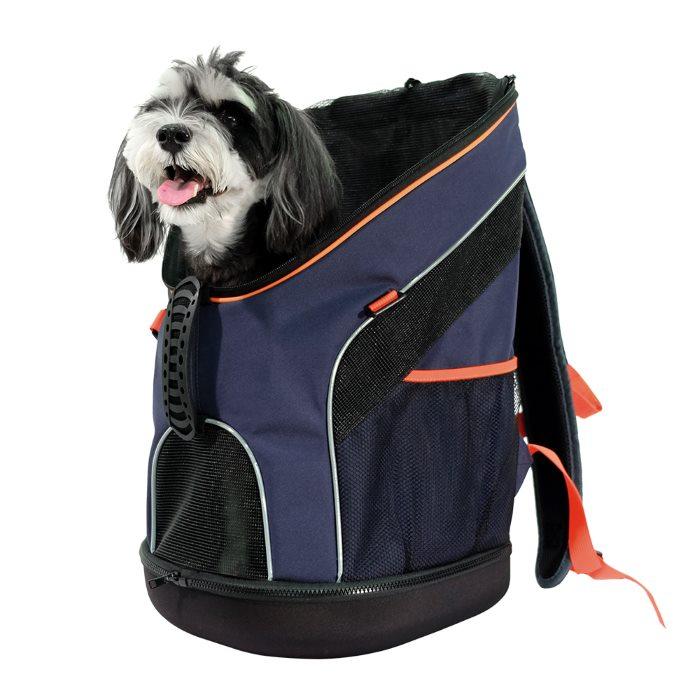 Ibiyaya Ultralight Backpack Pet Carrier Navy with Dog