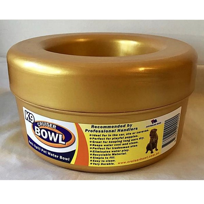 K9 Crusier Non Spill Bowl Gold