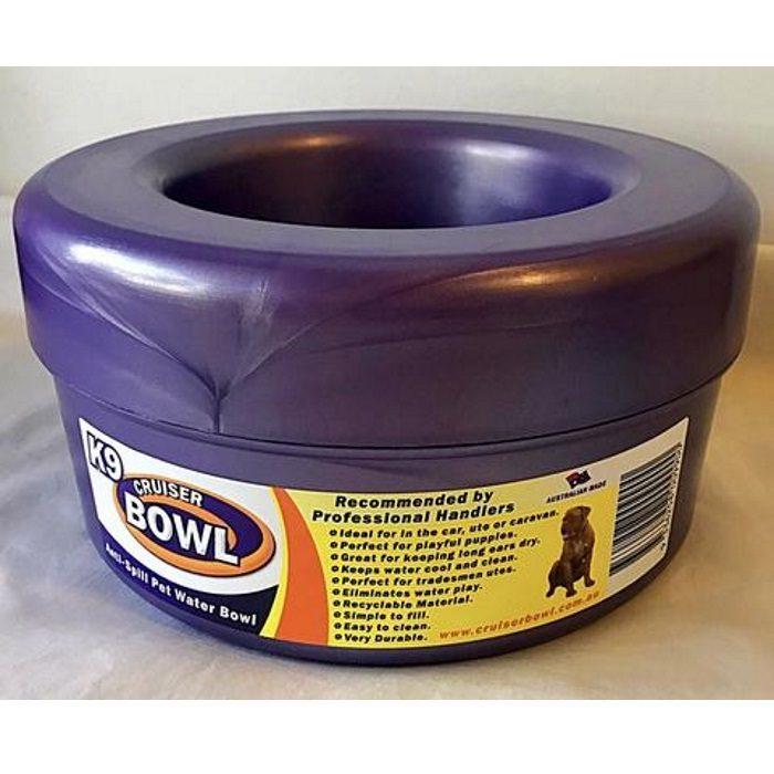K9 Crusier Non Spill Bowl Purple