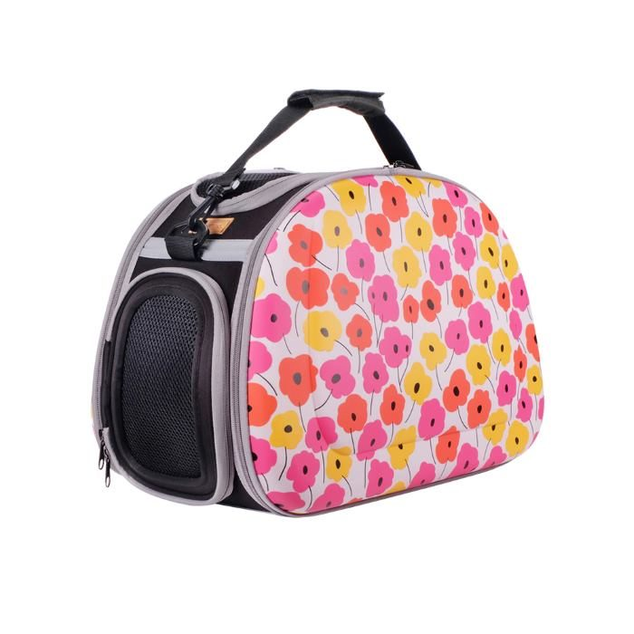 Shoulder Pet Carrier Bag_PoppyFlowers
