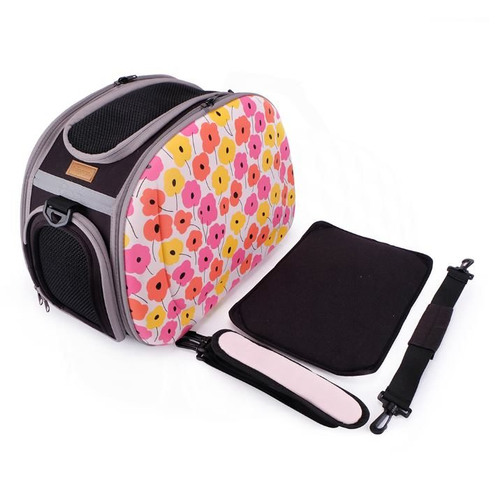 Shoulder Pet Carrier Bag_PoppyFlowers_Accessories