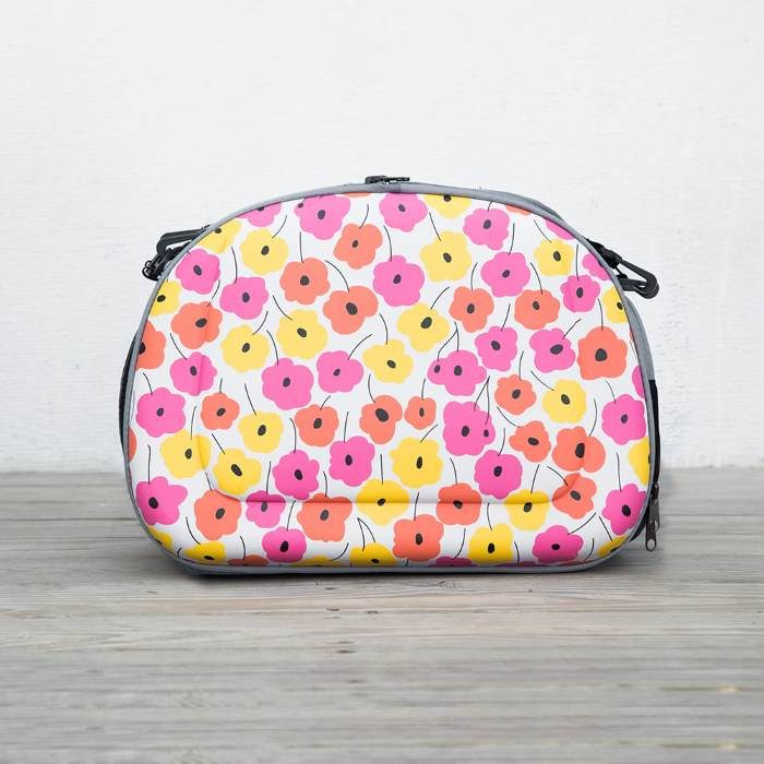 Shoulder Pet Carrier Bag_PoppyFlowers_Side