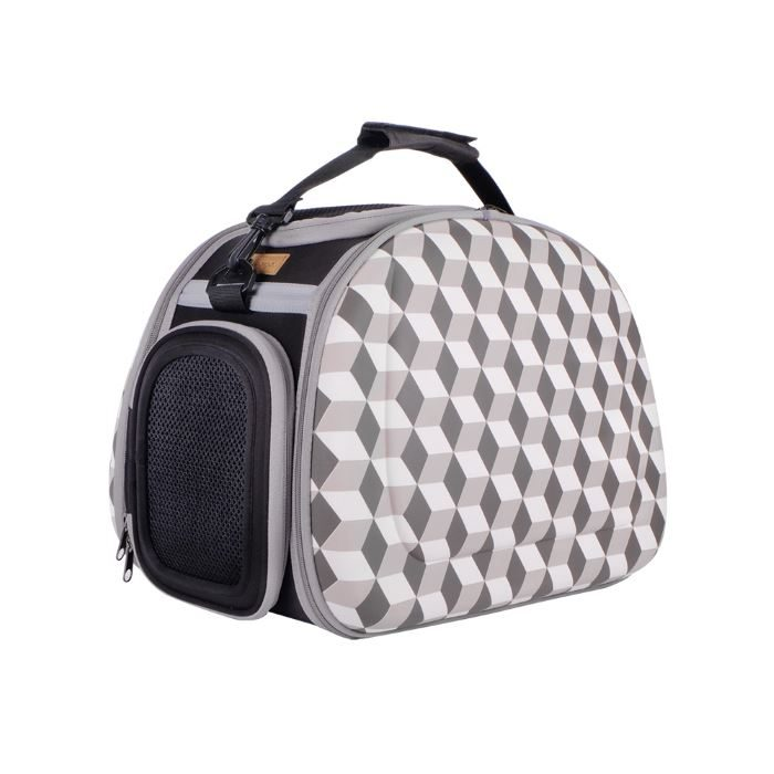 Shoulder Pet Carrier Bag_Rhombic Grey