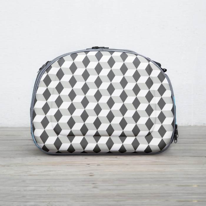 Shoulder Pet Carrier Bag_Rhombic Grey_Side