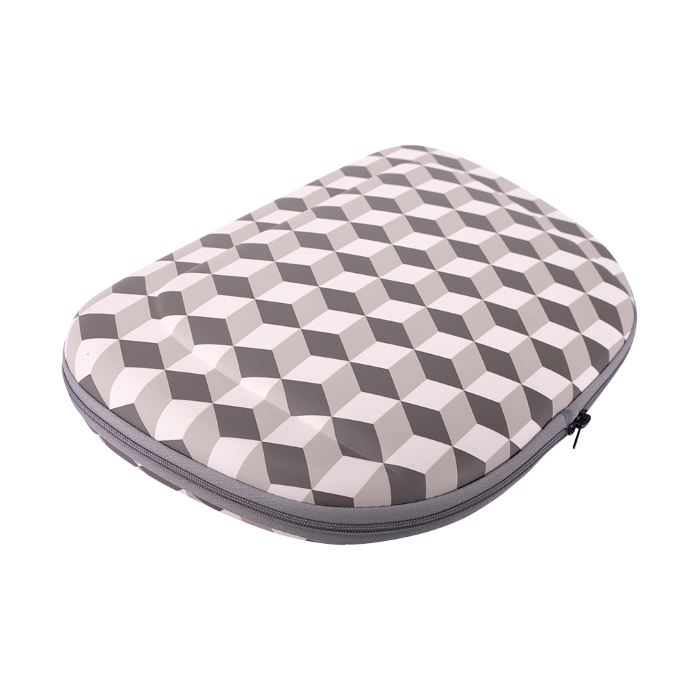 Shoulder Pet Carrier Bag_Rhombic Grey_flat