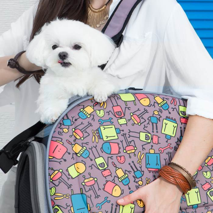 Shoulder Pet Carrier Bag_Robots_PupBag