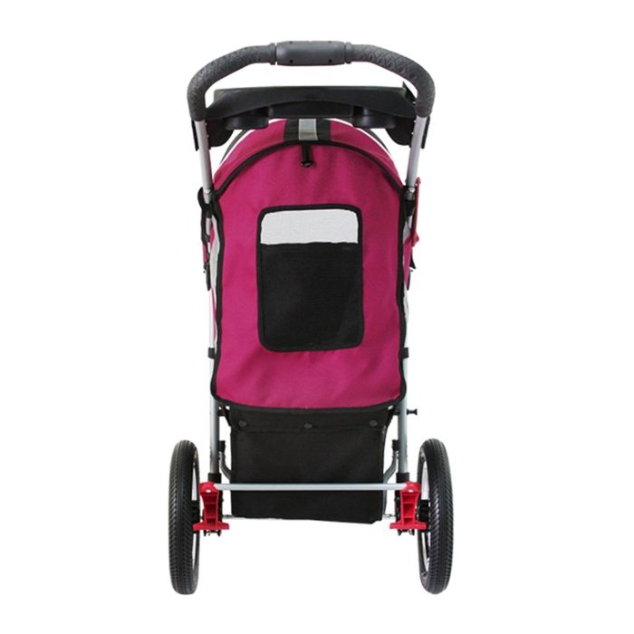 Turbo Pet Jogger Stroller Berry Pink Back
