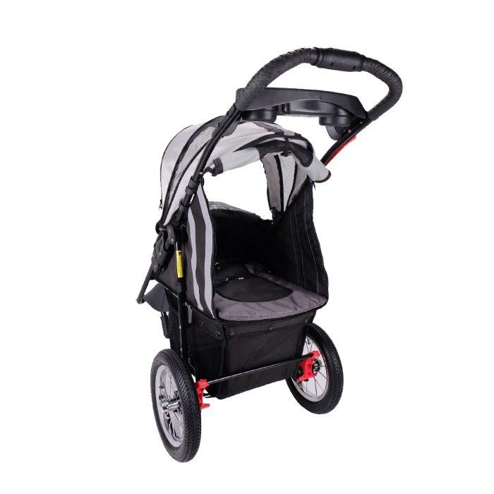 Turbo Pet Jogger Stroller Black Back Open