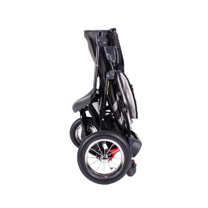 Turbo Pet Jogger Stroller Black Collapsed