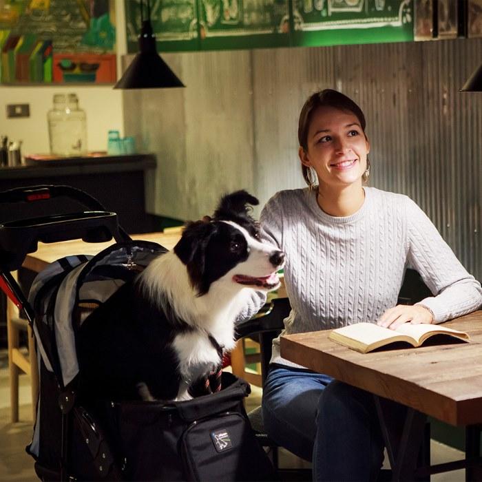 Turbo Pet Jogger Stroller Black Table