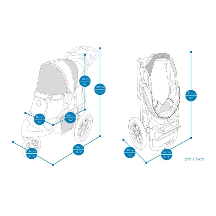Turbo Pet Jogger Stroller Dimensions