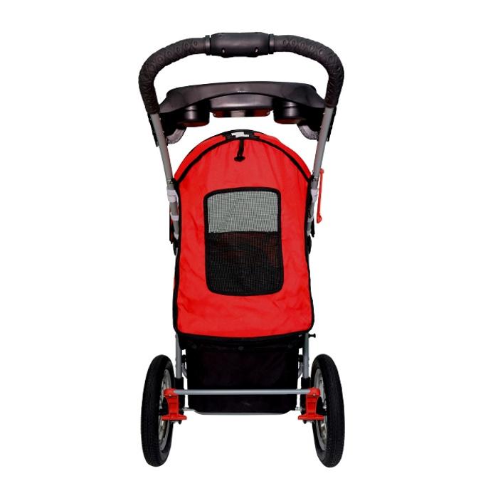 Turbo Pet Jogger Stroller Red Back