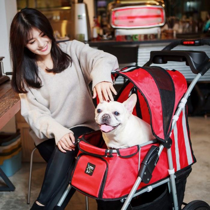 Turbo Pet Jogger Stroller Red Cafe