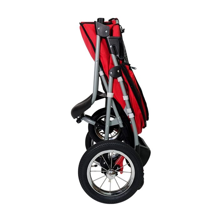 Turbo Pet Jogger Stroller Red Collapsed