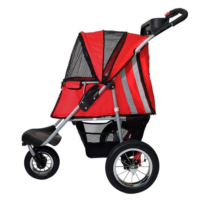 Turbo Pet Jogger Stroller Red Side