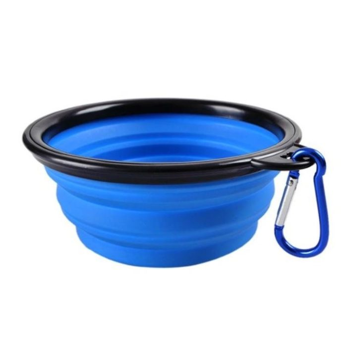 Blue Portable Collapsible Dog Bowl