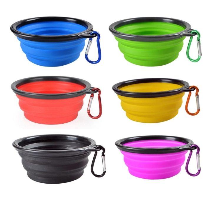 Collapsible Travel Bowls Colour range
