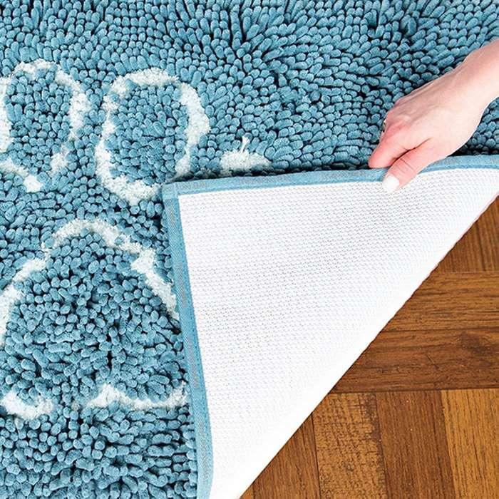 Dirty Dog Doormat Blue Nonslip backing