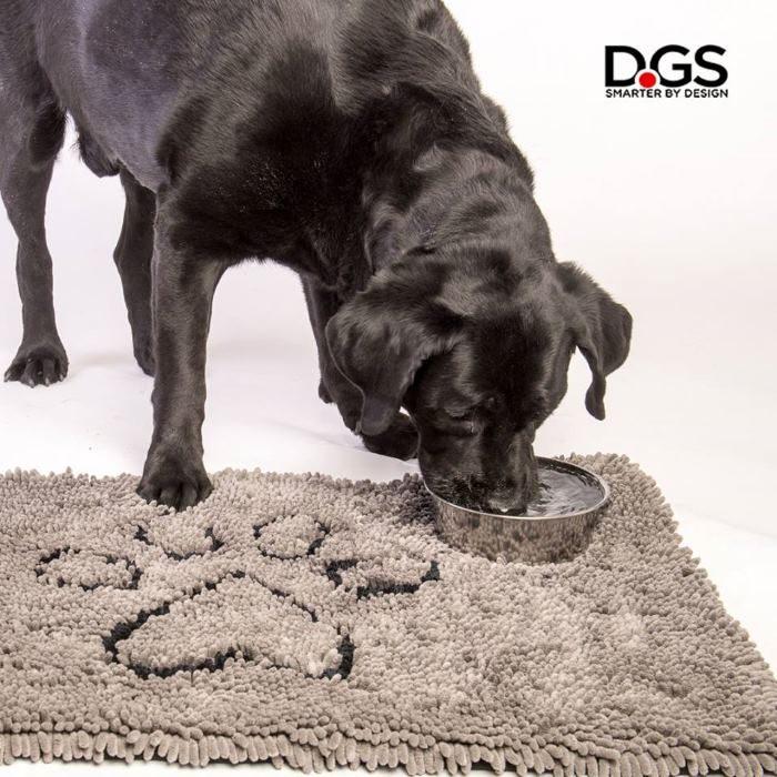 Dirty Dog Doormat Grey Water Bowl