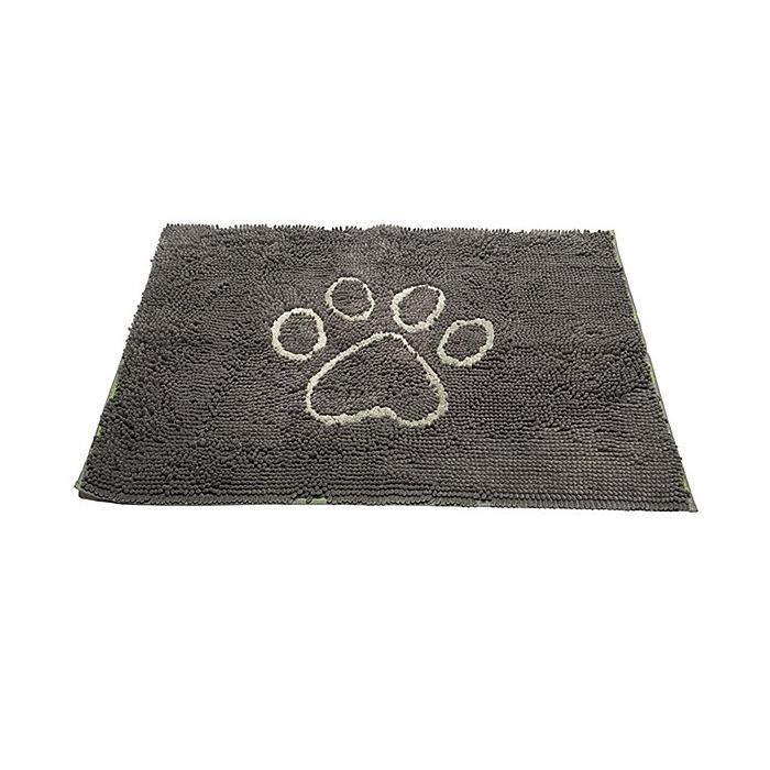 Dirty Dog Doormat Grey White Paw