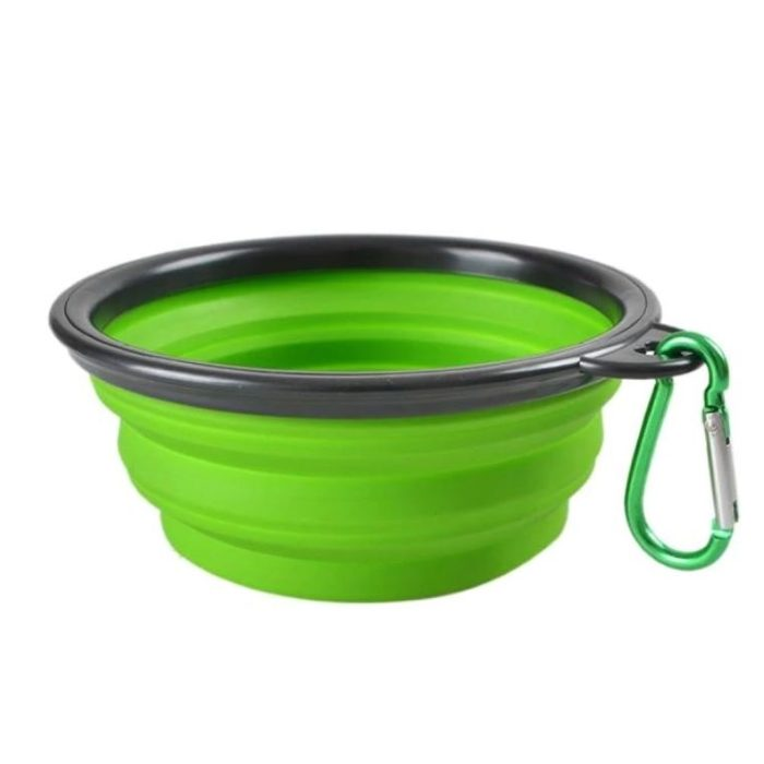 Green Portable Collapsible Dog Bowl