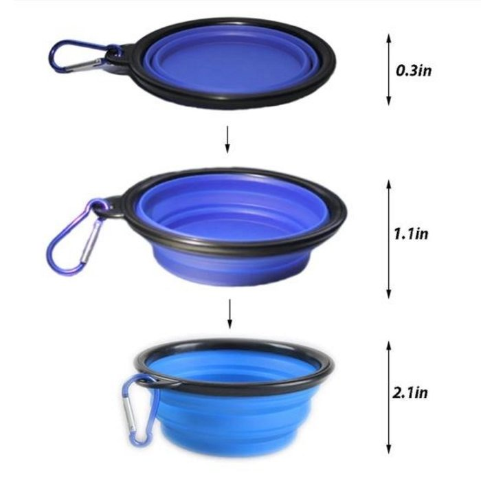 Portable Collapsible Dog Bowl Dimensions