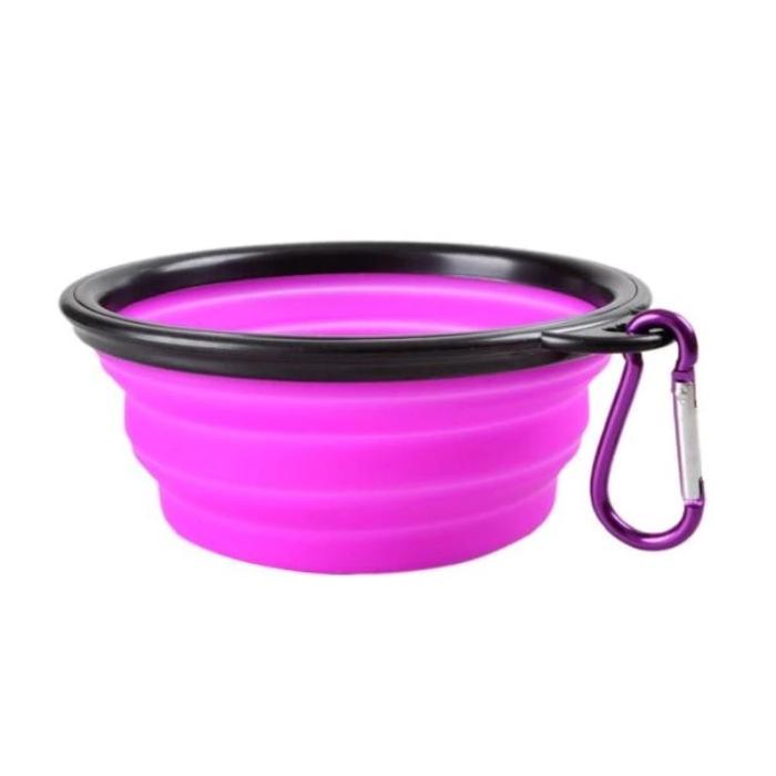 Purple Portable Collapsible Dog Bowl