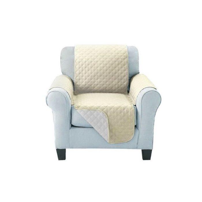 Sofa Cover One Seater Beige LS