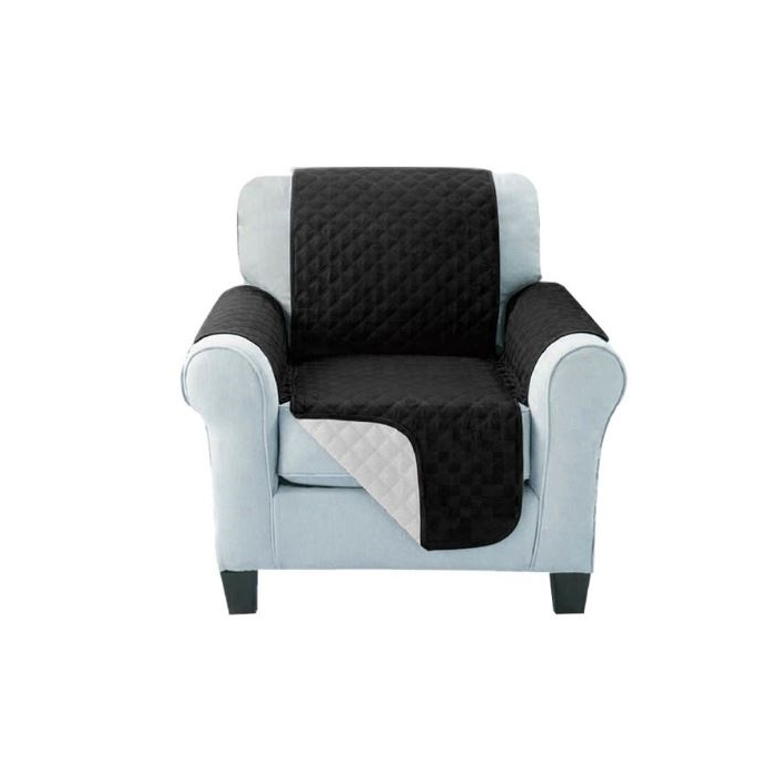 Sofa Cover One Seater Black