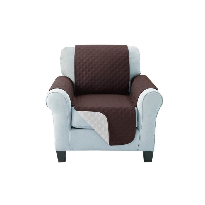Sofa Cover One Seater Brown