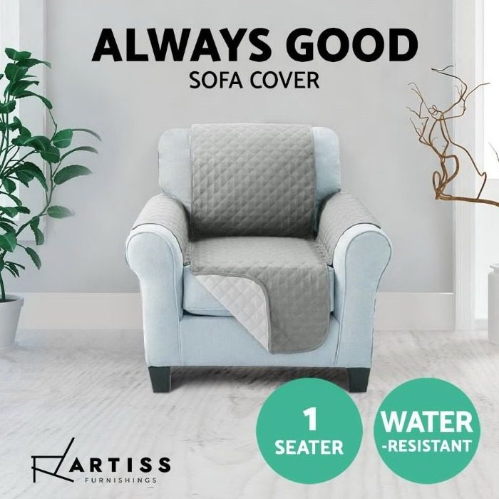 Sofa Cover One Seater Grey LS