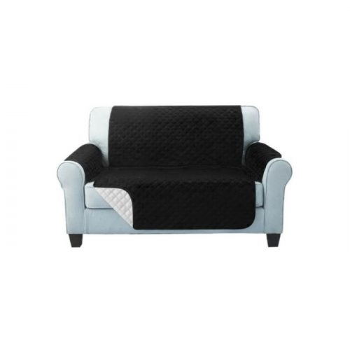 Sofa Cover Two Seater Black