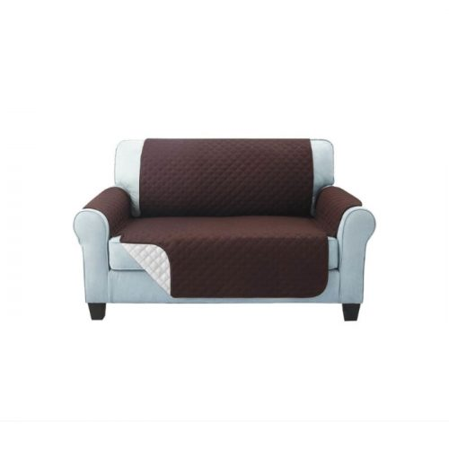 Sofa Cover Two Seater Brown