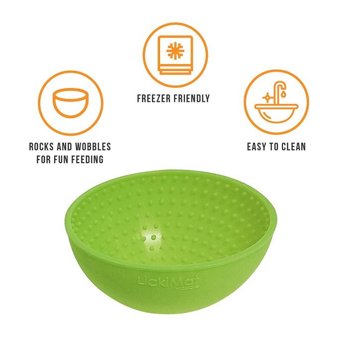 Lickimat Wobble Green Features