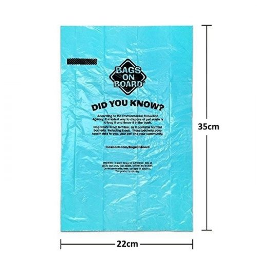 Dog Waste Pick up Bags, Ocean Breeze Scented Size