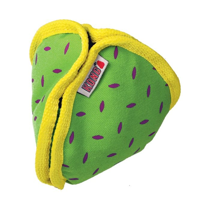 Kong Ballistic Hide n Treat Dog Toy Green Closed