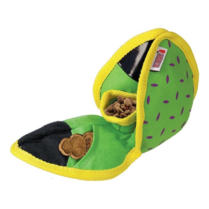 Kong Ballistic Hide n Treat Dog Toy Green Pockets