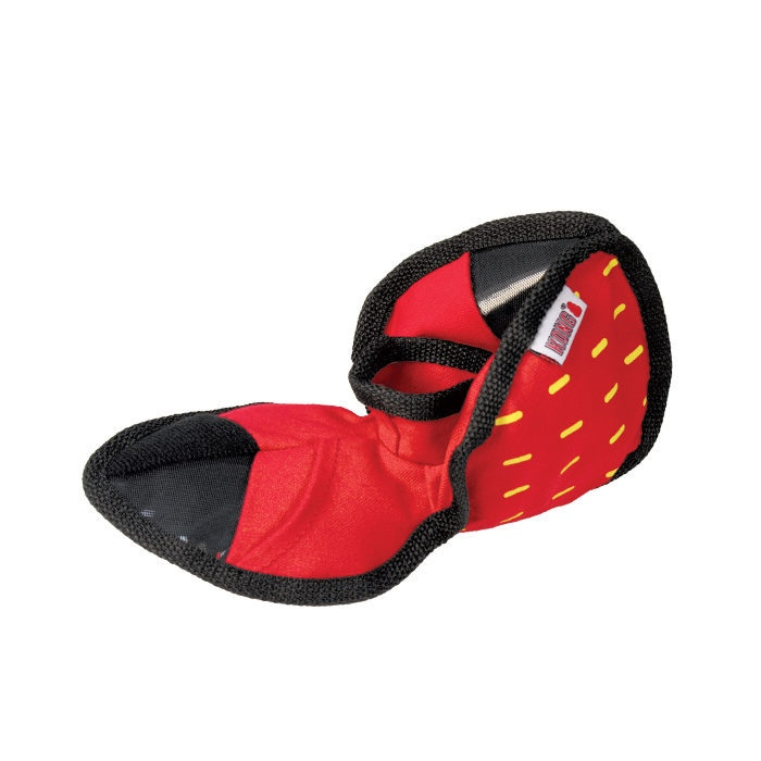 Kong Ballistic Hide n Treat Dog Toy Red Pockets