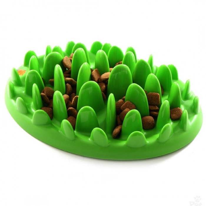 Northmate Green Slow Feeder for Dogs with Kibble