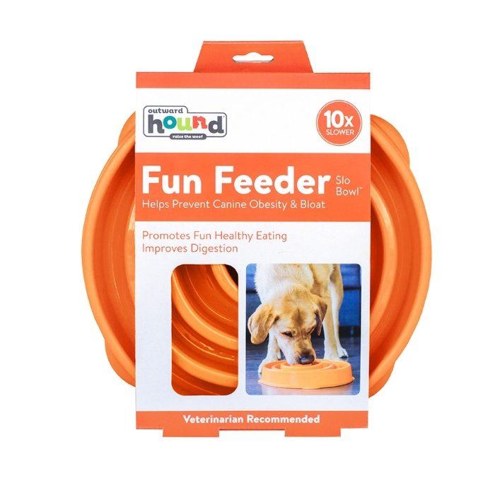Outward Hound Fun Feeder_Orange_Large_Packaging