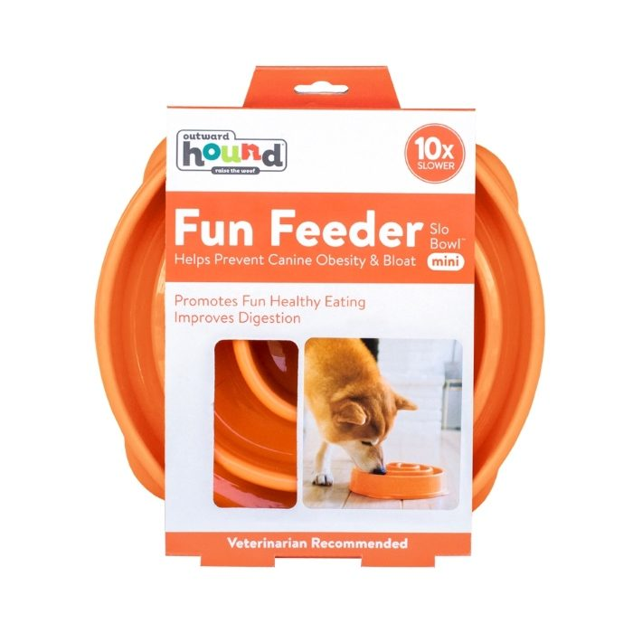 Outward Hound Fun Feeder_Orange_Mini_Packaging