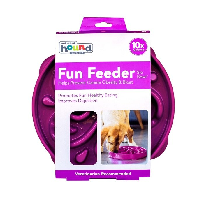 Outward Hound Fun Feeder_Purple_Large_Packaging