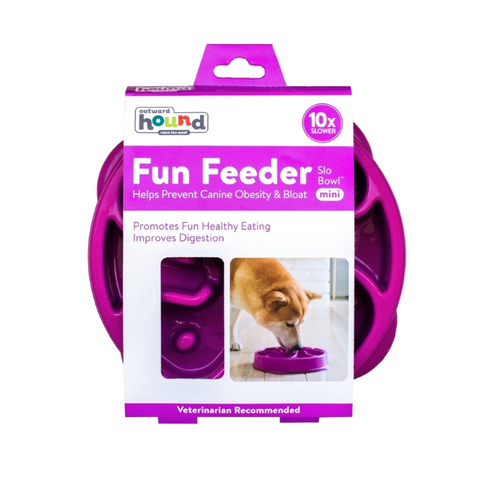 Outward Hound Fun Feeder_Purple_Mini_Packaging