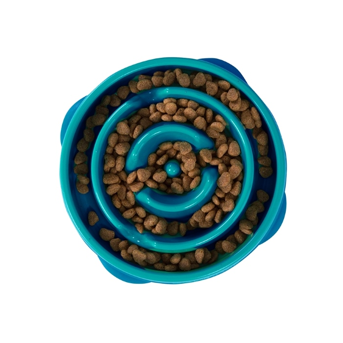 Outward Hound Fun Feeder_Teal_Mini