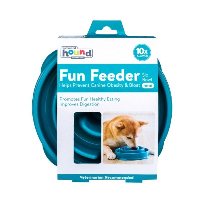 Outward Hound Fun Feeder_Teal_Mini_Packaging