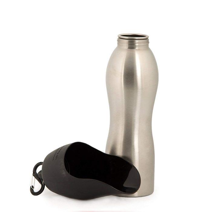 Kong H2O Dog Travel Water Bottle & Bowl_Black