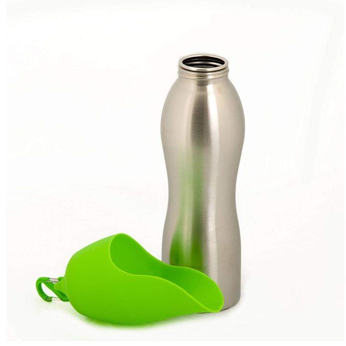 Kong H2O Dog Travel Water Bottle & Bowl_Green
