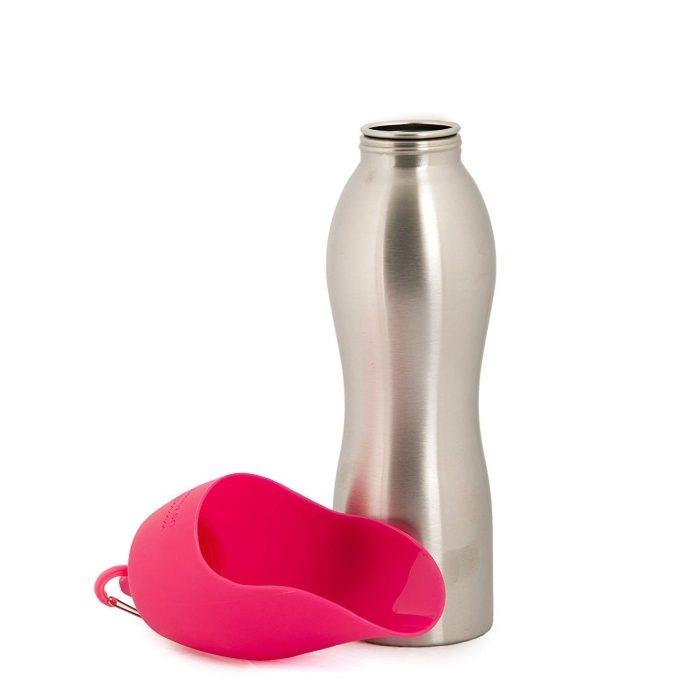 Kong H2O Dog Travel Water Bottle & Bowl_Pink