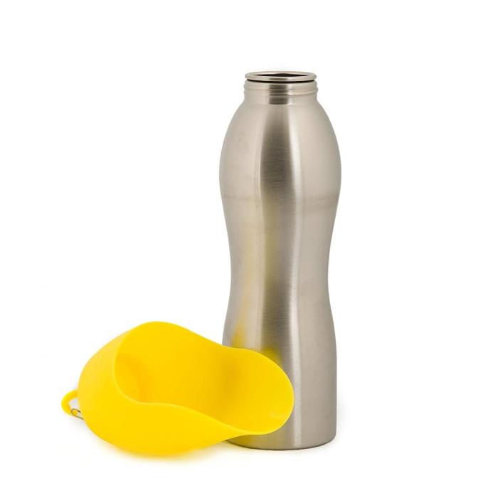 Kong H2O Dog Travel Water Bottle & Bowl_Yellow